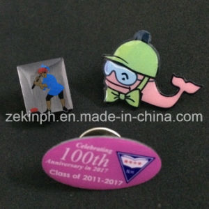 Offset Printing Badge Butterfly Pin Badge pictures & photos