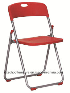 Cheap Steel Frame Plastic Folding Chair for Office pictures & photos