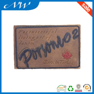 Fashion Leather Patch Label Custom Private Leather Label
