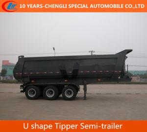 25cbm 3 Axle U Shape Tipper Semi Trailer pictures & photos