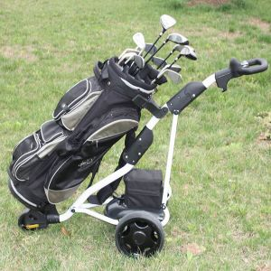 National Patent Hot-Selling 3 Wheel Electric Golf Cart Trolley (DG12150-B) pictures & photos