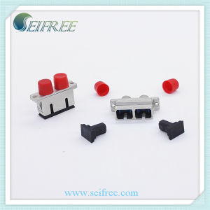FC to LC Metal Fiber Optic Single Mode Duplex Adapter pictures & photos