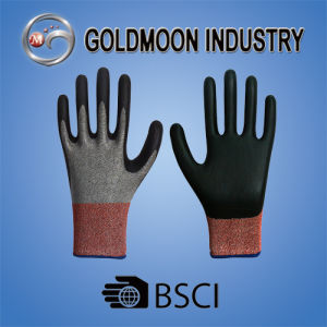 13G Black Nitrile Cutting Resistance Level Safety Work Glove pictures & photos