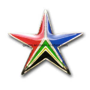 Customize Epoxy Coated Star Shape Lapel Pin/Badge (QL-Hz-0015) pictures & photos