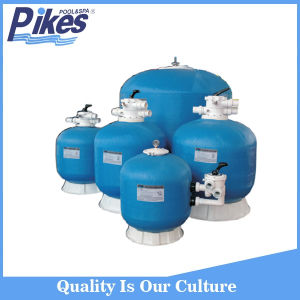 Fiberglass Resin Gery Swimming Sand Pool Filter with Black Top Mounted Valve pictures & photos
