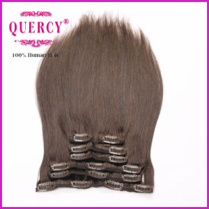 Factory Price Selling Peruvian Clip in Hair Extension, Clip Hair Weave pictures & photos