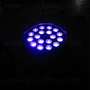 Indoor 18X18W RGBWA UV 6in1 Stage Lighting Zoom LED PAR pictures & photos