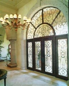 European Luxury Wrought Iron Doors pictures & photos