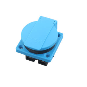 Ce VDE 16A IP54 Waterproof Euro German Schuko Electrical Power Plug Outlet Socket Receptacle for Industrial Electromobile with Protection Gates (050301) pictures & photos