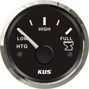 52mm Holding Tank Gauge (SV-KY12002) 0-190 Ohm 316 Stainless Steel Bezel Black Faceplate for Car Truck Universal Boat Marine pictures & photos
