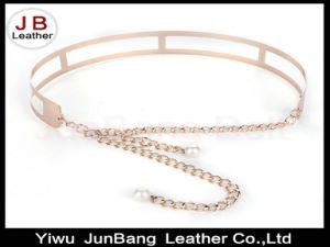 Women Gold/Silver Full Metallic Bling Mirror Plate Belt pictures & photos