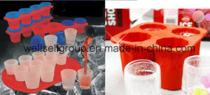 Silicone Ice Cube Maker/Ice Trays (4 Cavities) pictures & photos
