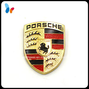 High Quality Shield Shape Plating Alloy Metal Badge pictures & photos