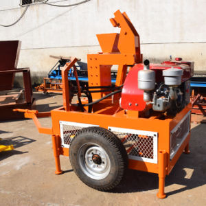 Mobile Hydraulic Clay Interlocking Brick Machine (SEI1-20) pictures & photos