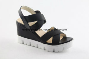 Wedge Design Women Sexy Shoes with Elastic Upper pictures & photos