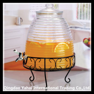 10L Glass Juice Storage Bottle with Glass Lid pictures & photos