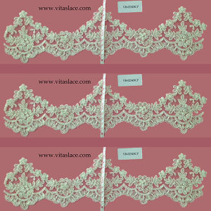 Ivory Rayon Cording Lace Trim for Wedding Veil Vb-0234bc pictures & photos