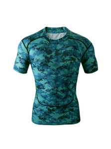 Compression Base Layer Short Sleeves Fitness Exercise Men Shirt (AKJSY-2015002) pictures & photos