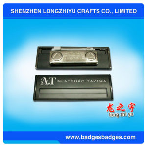 Brass Engraving Magnetic Name Plate Badge From China pictures & photos