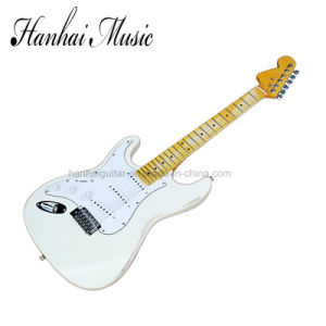 Hanhai Music / Left Handed Electric Guitar with White Old Body pictures & photos
