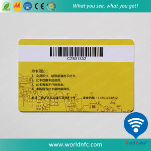 RFID Smart Card Mf S70 Contactless Card with Barcode Card pictures & photos