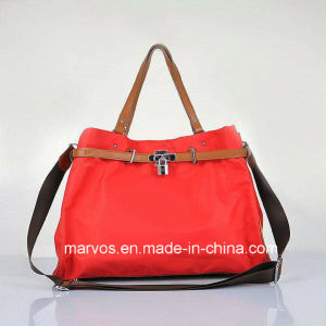 Fabric Handbags with Leather /Tote Fabric Handbags (BS1211) pictures & photos