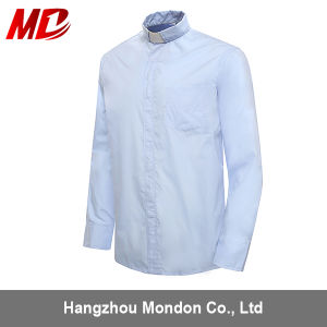 Mens Tab Collar Clerical Shirts Black Long Sleeves pictures & photos