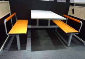 Cheap 4 Seater Fast Food Restaurant Table and Chair pictures & photos