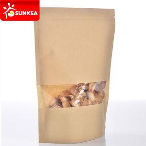 Biodegradable Kraft Paper Ziplock Bag with Plastic Window pictures & photos