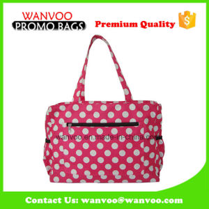 Waterproof Cotton Baby Love Diaper Bag with DOT pictures & photos