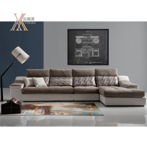 Modern Fabric Sofa Set with Storing Space (1612)