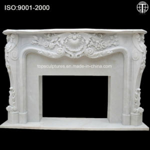 Marble Fireplace Surround Nature Stone Fireplace Carved Fireplace for Home pictures & photos