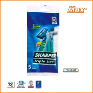 Triple Sweden Stainless Steel Blade Disposable Shaving Razor (LB-5060) pictures & photos