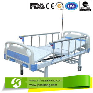 Medical Hospital Bed with Adjustable Backrest pictures & photos