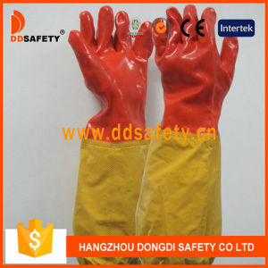 Long Cuff PVC Working Glove DHL510 pictures & photos