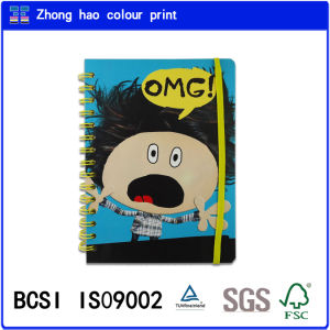 A5 Wire-O Book/Omg Cover Spiral Binding Notebook with Yello Elastic (150527004)