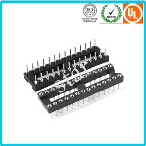 Factory Custom 2.54mm 28 Pin Double Row Pin Header IC Socket pictures & photos