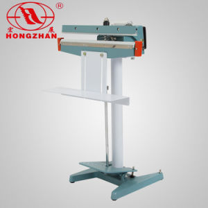 Cylinder Pneumatic Automatic Pedal Foot Sealing Machine with Electric Magnetic Manual Pedal Sealer with Temperature Controller and Time Adjustment pictures & photos