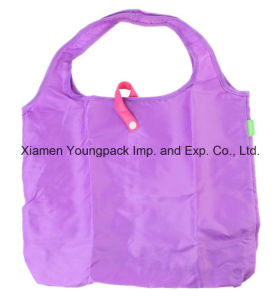 Reusable Eco Polyester Fold up Folding Grocery Shopping Tote Bag pictures & photos