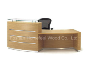 2015 New Arrival MFC Modern Reception Table Office Furniture (HF-R006) pictures & photos