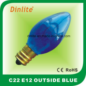 C22- E12 Outside Colorful Candle Incandescent Bulb pictures & photos