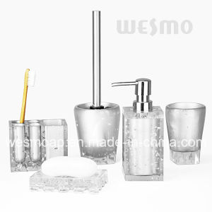 Silver Polyresin Bathroom Set (WBP0243A) pictures & photos