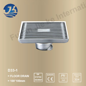 Stainless Steel Bathroom Hardware Floor Drain (D33-1)