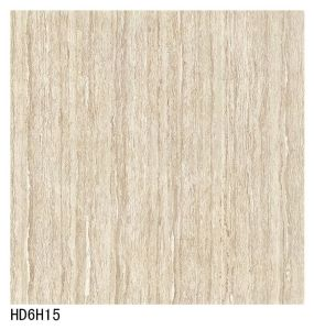 HD6h15 Light Gray Color Line Stone Double Loading Polish Porcelain Floor Tile pictures & photos