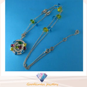 Good Quality and Hot Sale Fashion Jewelry Color CZ Necklace Sterling Silver Jewelry N6779 pictures & photos