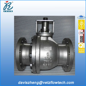 6 in Class150 RF Stainless Steel Fire Safe Anti-Static PTFE Floating Ball Valves with ISO 5211 Mounted Flange
