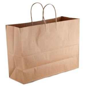 Natural Kraft Paper Shopping Bag with Handles pictures & photos