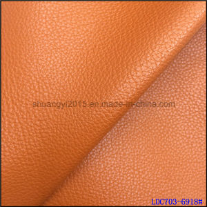 Microfiber 1.4mm Embossed Leather PU for Shoes Bags pictures & photos