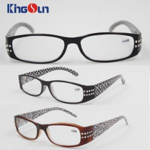 Lady′s Fashion Diamond Plastic Reading Glasses pictures & photos