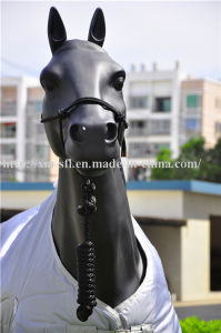 PP Horse Halter with Lead Leather Strip End pictures & photos